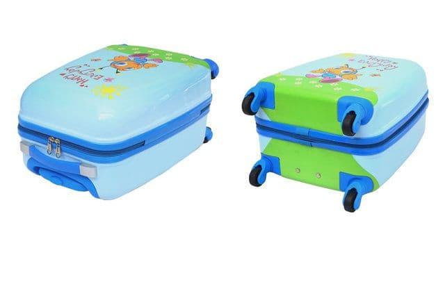 Детский чемодан Пчёлка голубой Размер S.