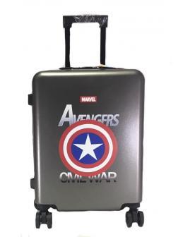 Детский чемодан Marvel Avengers ( Марвел Мстители) серебристый M