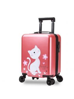 Детский чемодан Котик перламутровый