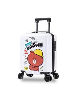 Детский чемодан Медвежонок Cool Brown белый S