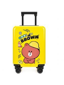 Детский чемодан Медвежонок Cool Brown жёлтый M