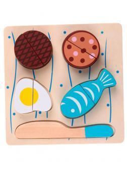 Набор деревянных продуктов для резки «Завтрак»