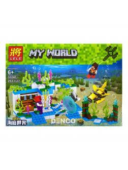 Конструктор Ll Minecraft «Подводная ферма» 33240 (Minecraft) 253 детали