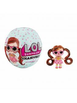 Кукла L.O.L. Surprise Hairvibes Dolls с 15-ю сюрпризами и сменными париками