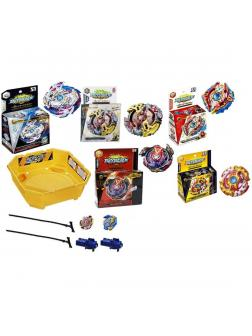 Набор «Mega Super Set» BEYBLADE 7 Волчков + Желтая Арена с 4 ловушками