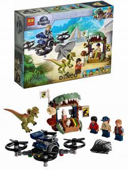 Конструктор Lari «Побег дилофозавра» 11334 (Jurassic World 75934) / 184 детали