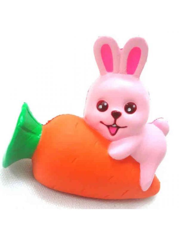Игрушка-антистресс Squishy Сквиши «Зайка на морковке»