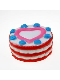 Игрушка-антистресс Squishy Сквиши «Тортик с Сердечком»