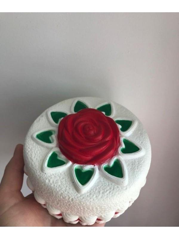 Игрушка-антистресс Squishy Сквиши «Торт с розочкой»