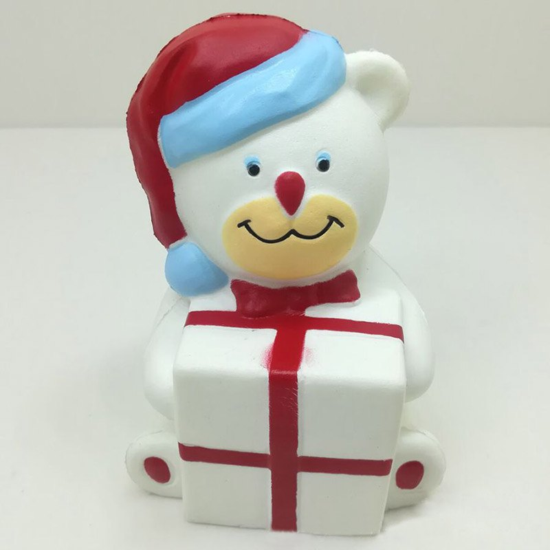 Игрушка-антистресс Squishy Сквиши «Новогодний мишка»