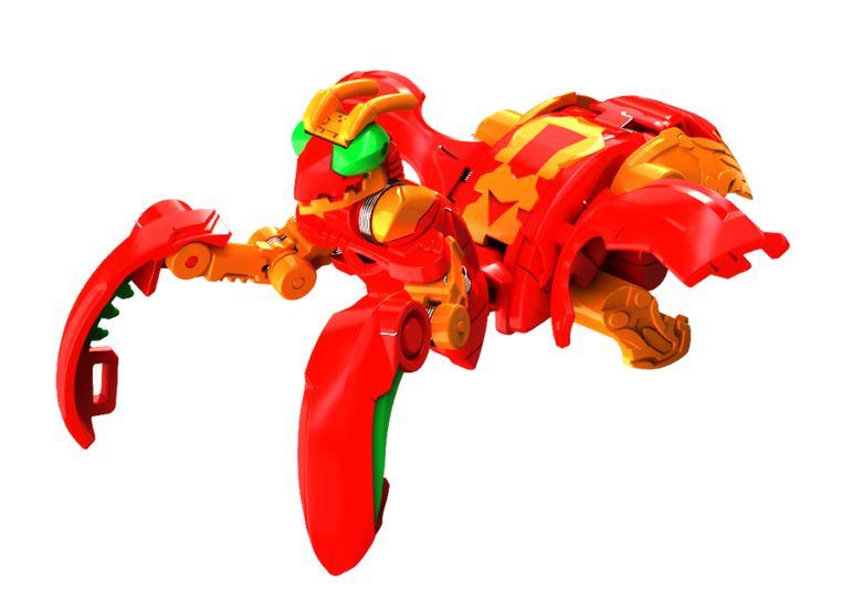 Фигурка-трансформер Бакуган Богомол Мантаноид Ультра (Bakugan Mantonoid Ultra Pyrus) от SB / Красный
