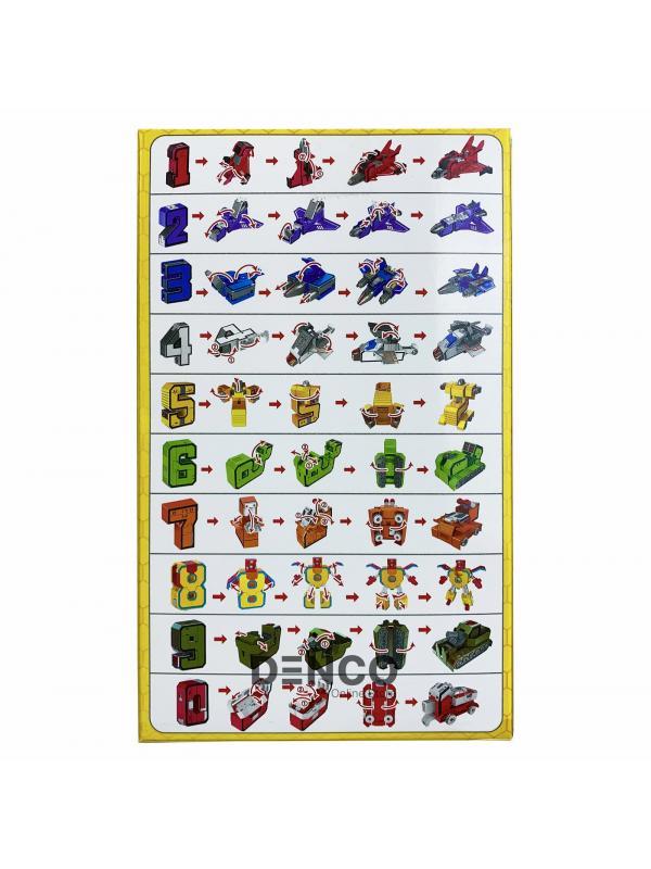 Набор из 10 Цифр-Трансформеров «Космос и Пожарный» XL  / 10 см.