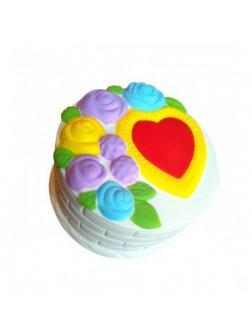 Игрушка-антистресс Squishy Сквиши «Торт с сердечком и розами»