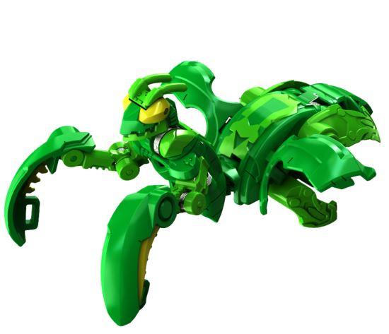 Фигурка-трансформер Бакуган Мантаноид Ультра (Bakugan Mantanoid Ultra Ventus) от SB / Зелёный