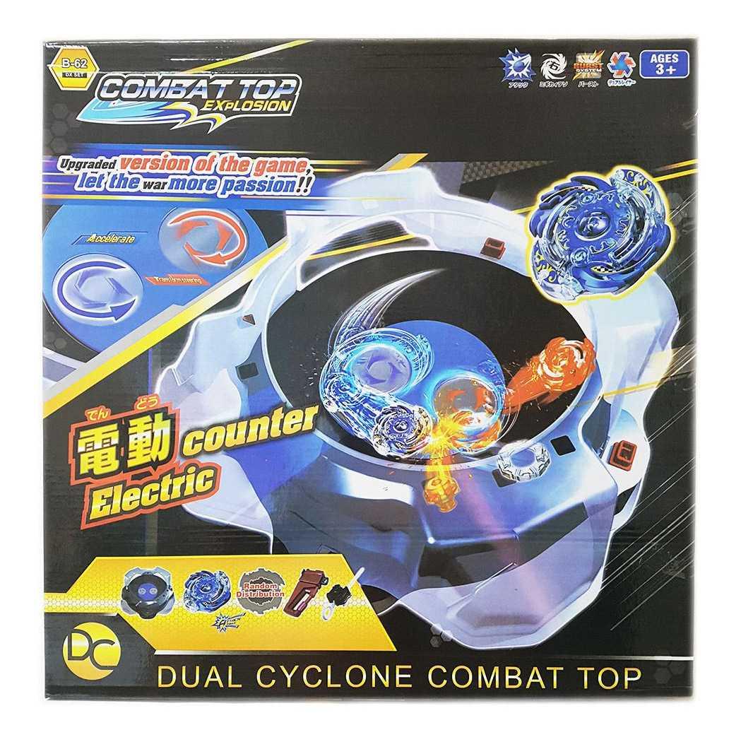 Электрическая Арена Dual Cyclone Combat Top с 2 волчками и Пускателями