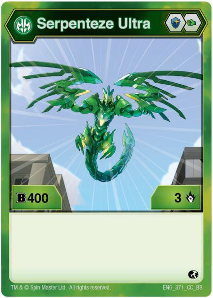 Фигурка-трансформер Бакуган Серпентиз Ультра (Bakugan Serpenteze Ultra Ventus) от SB / Зелёный