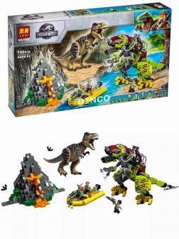 Конструктор Lari «Бой тираннозавра и робота-динозавра» 11337 (Jurassic World 75938) / 740 деталей
