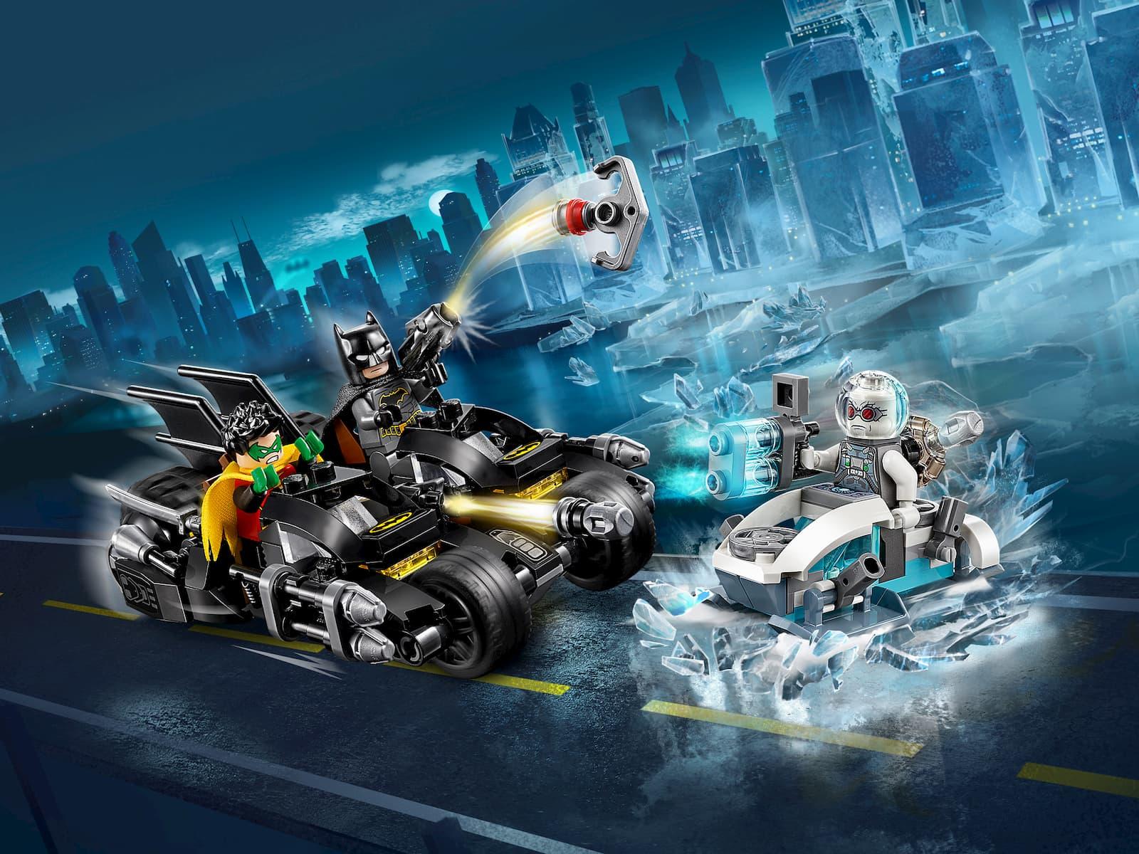 Конструктор Lari «Гонка на мотоциклах с Мистером Фризом» 11350 (Super Heroes 76118) / 216 деталей