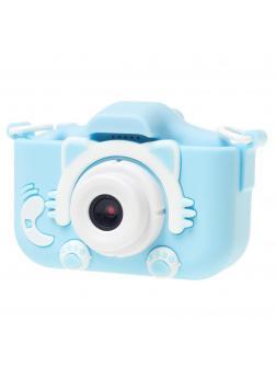 Детский цифровой фотоаппарат с играми и встроенной памятью GSMIN Fun Camera Kitty BT600065