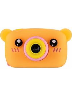 Детский цифровой фотоаппарат с играми и встроенной памятью GSMIN Fun Camera Bear BT600062