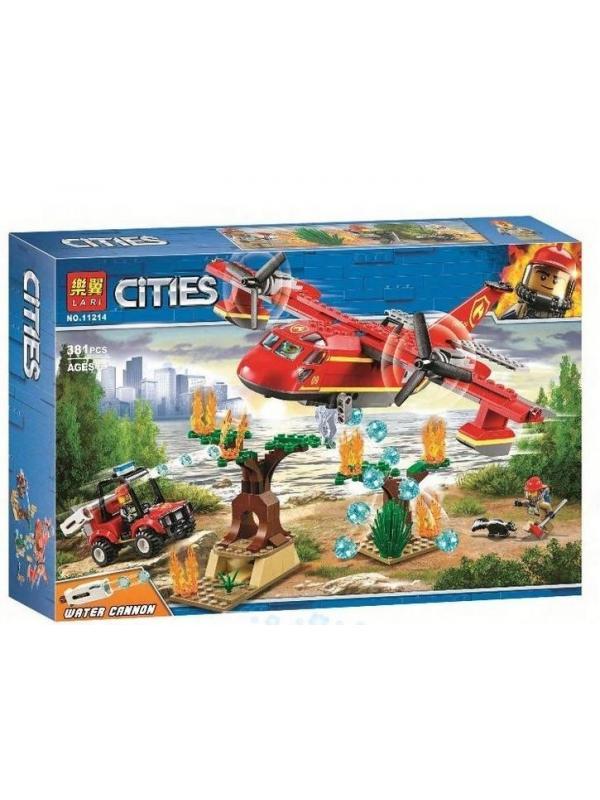 Конструктор LARI «Пожарный самолёт» 11214 (City 60217) 381 деталь
