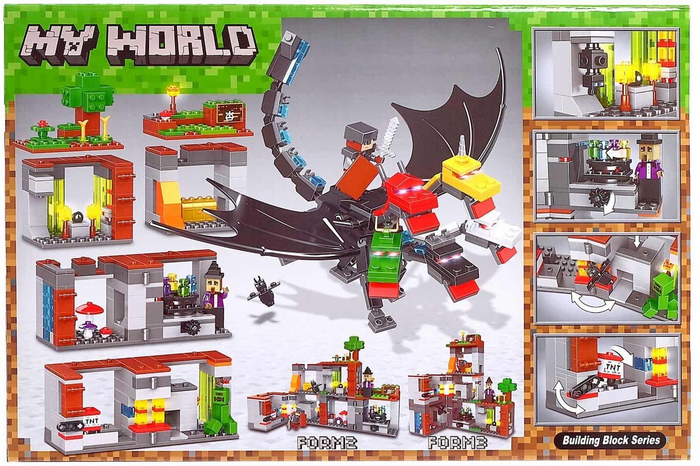 Конструктор Lari Minecraft «Король драконов» 11268 / 580 деталей