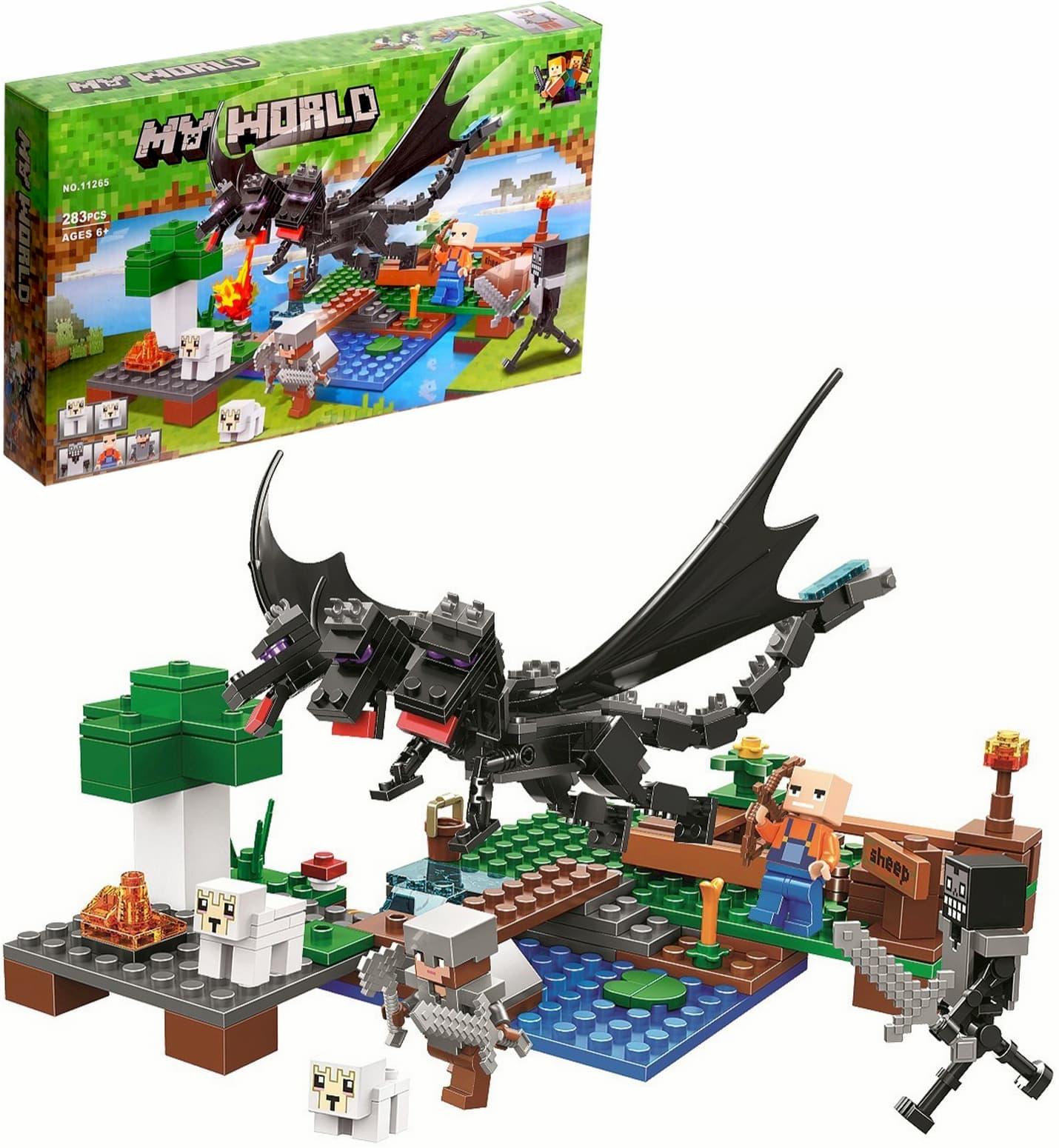 Конструктор Lari Minecraft «Битва с Черным драконом» 11265 / 283 детали