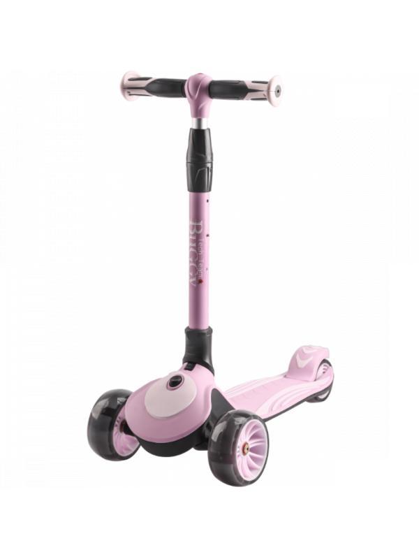Детский Трехколесный Самокат Складной Buggy 2020 розовый