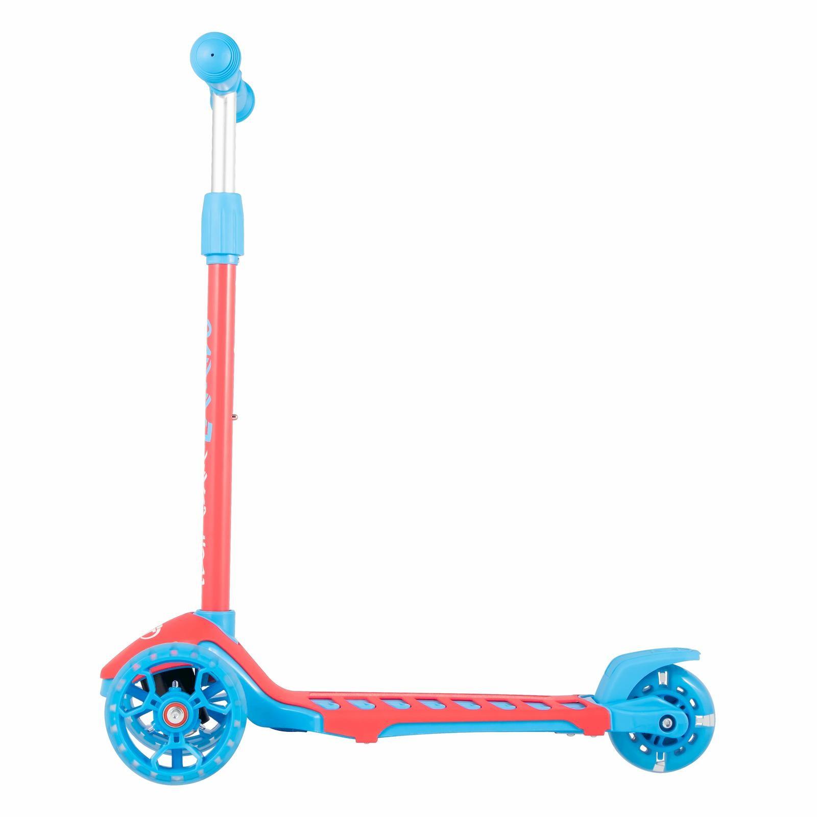 Детский Складной трехколесный самокат Lambo TechTeam 2020 / Розово-голубой