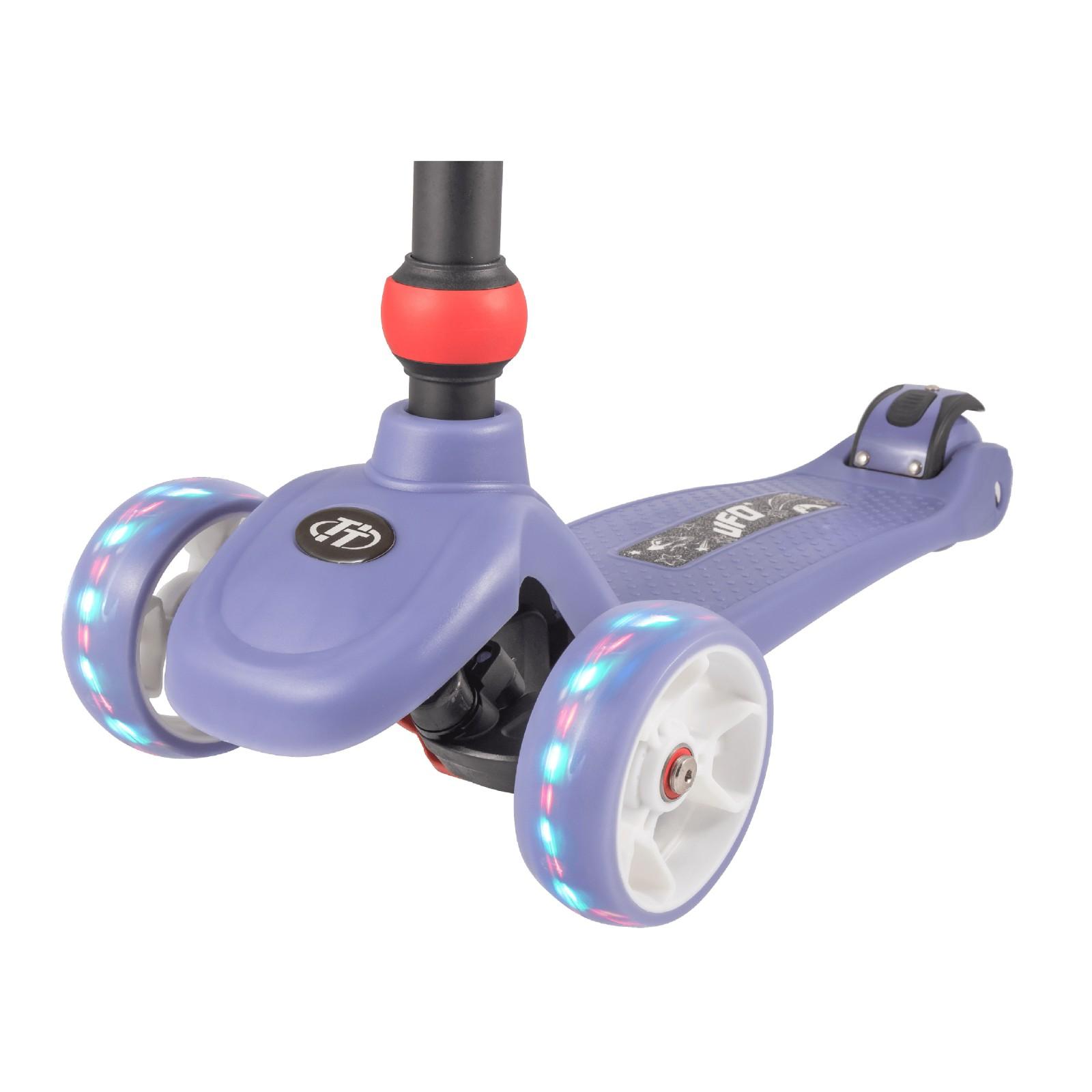 Детский складной трехколесный самокат TechTeam UFO 2020 / Фиолетовый