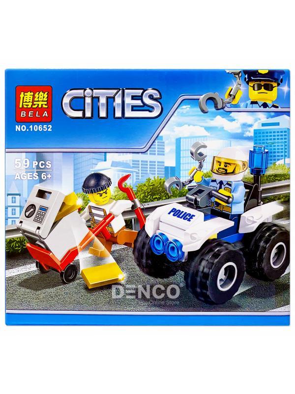 Конструктор Bl «Полицейский квадроцикл» 10652 (City 60135) / 59 деталей