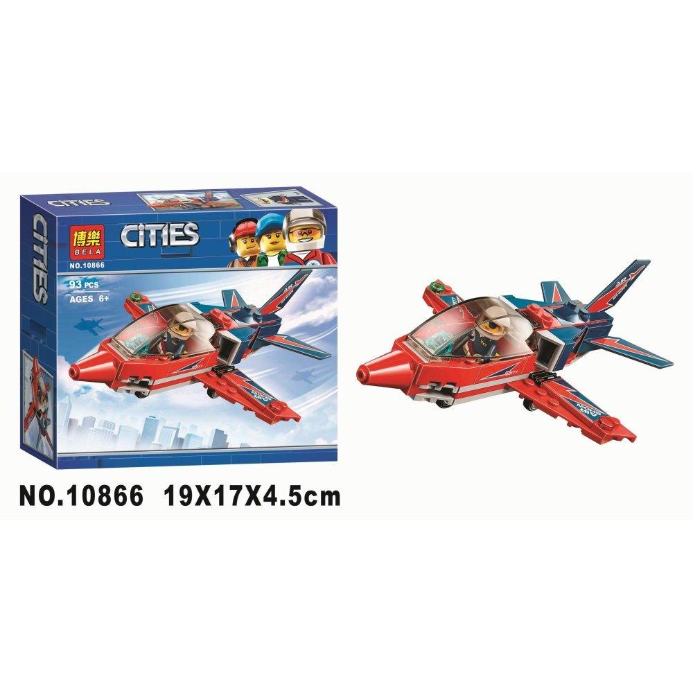 Конструктор Bl «Реактивный самолёт» 10866 (City 60177) 93 детали