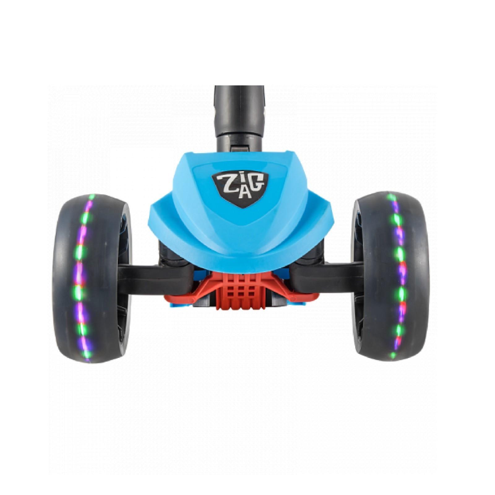 Детский Складной Трехколесный cамокат ZigZag 2019 / Голубой