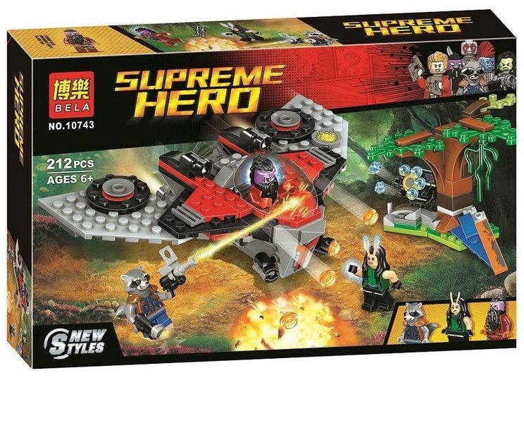 Конструктор Bl Supreme Hero «Нападение Тазерфейса (Шокерфейса)» 10743 (Super Heroes 76079) 212 детали