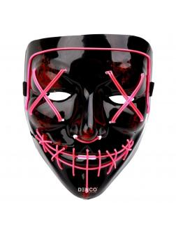 Неоновая маска из фильма Судная ночь / Розовая