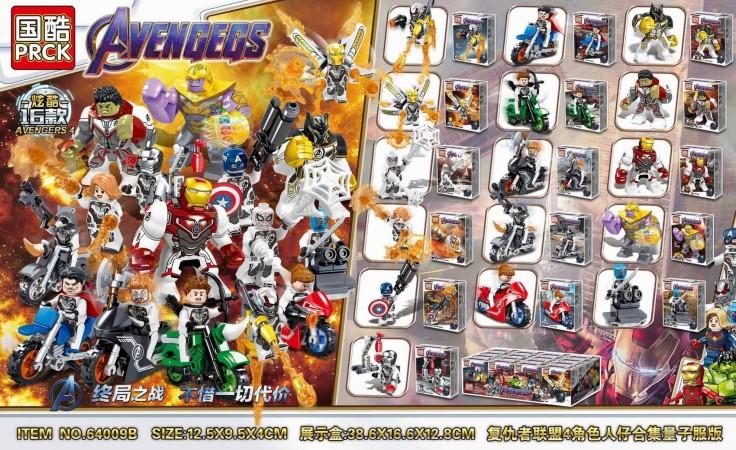 Конструктор PRCK Super Heroes «Мини герои» 64009 (Super Heroes) 16 шт. в упаковке