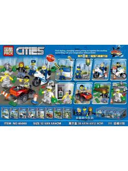 Конструктор PRCK «Герои» 65000 (City) 16 шт. в упаковке 8 видов