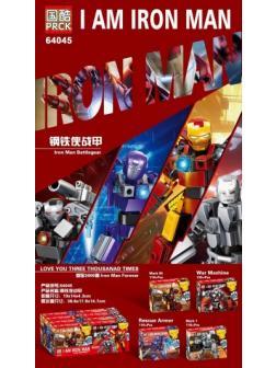 Конструктор PRCK «Железный человек» 64045 (Super Heroes) 4 шт. в упаковке