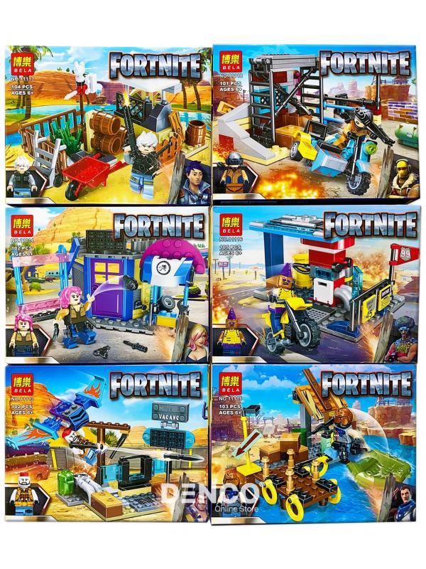 Конструктор Bl Fortnite «Герои на базе» 11113-11118 6 шт. в упаковке