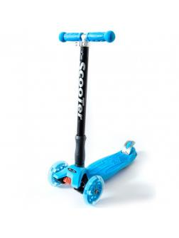 Детский Трехколесный Самокат Maxi Pro / Голубой