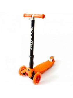 Детский Трехколесный Самокат Maxi Pro / Оранжевый