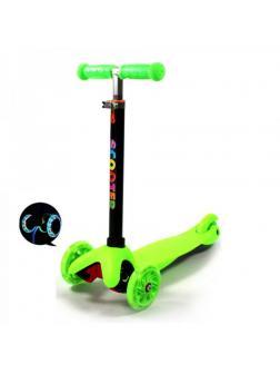 Детский Трехколесный Самокат Scooter Mini / Салатовый