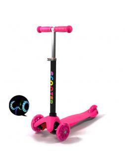 Детский Трехколесный Самокат Scooter Mini / Розовый