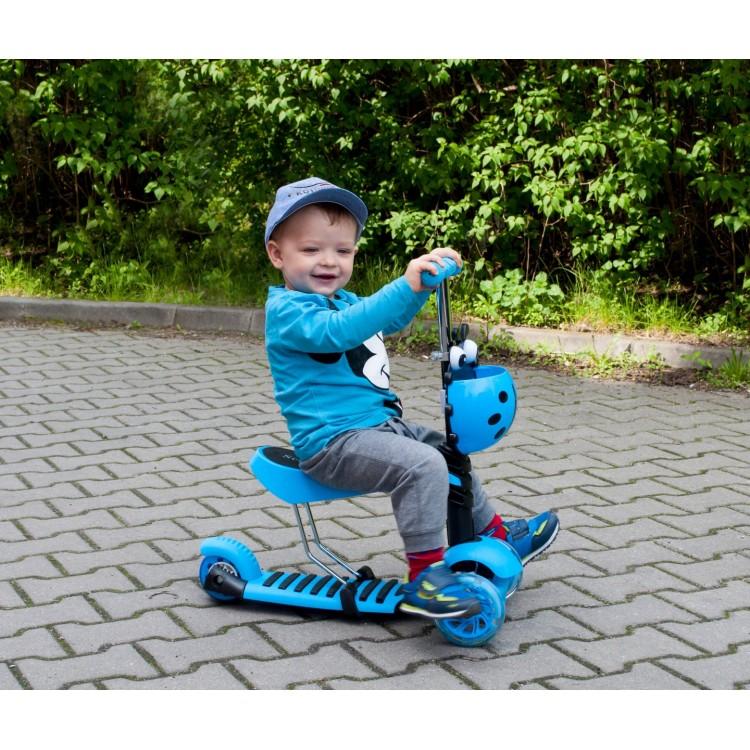 Детский Трехколесный Самокат Scooter 5 в 1 Божья коровка / Розовый