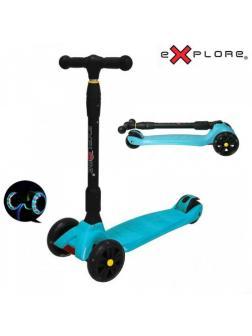 Детский Трехколесный Самокат Scooter Maxi Explore Smart / Голубой