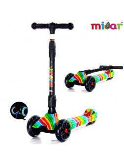 Детский Трехколесный Самокат Scooter Maxi Micar Ultra / Rainbow