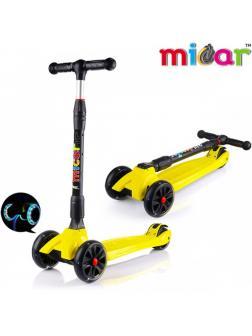 Детский Трехколесный Самокат Scooter Maxi Micar Ultra / Желтый