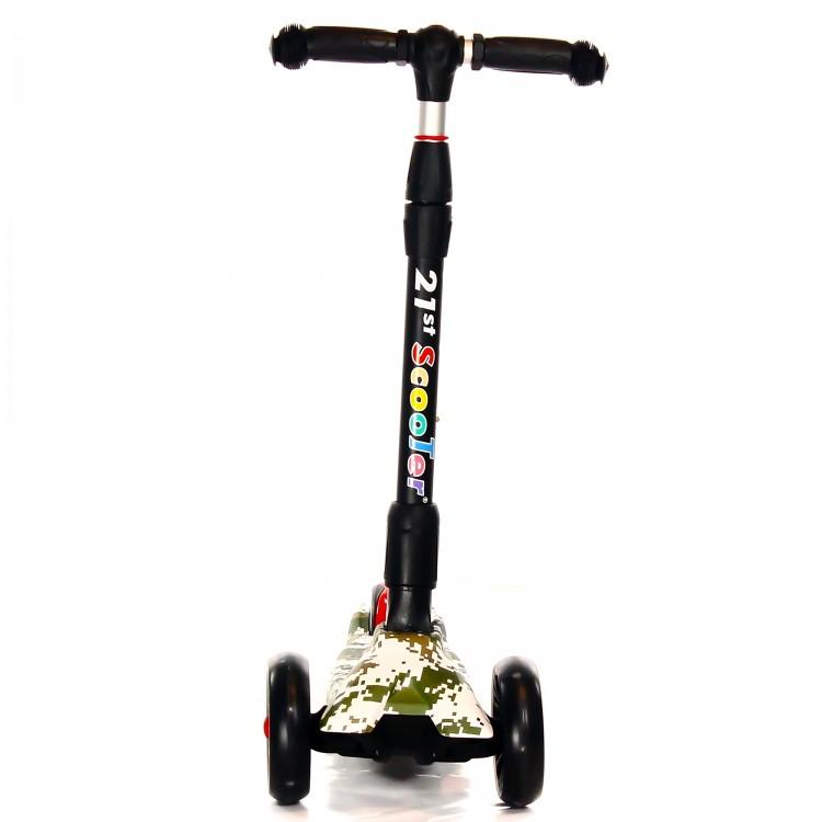 Детский Трехколесный Самокат Scooter Maxi Micar Ultra / Хаки