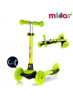 Детский Трехколесный Самокат Scooter Mini Micar Jet / Зелёный