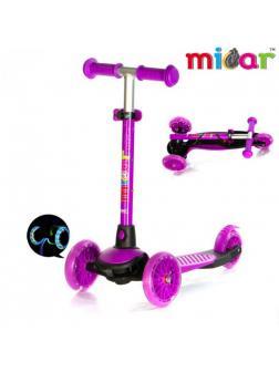 Детский Трехколесный Самокат Scooter Mini Micar Jet / Фиолетовый